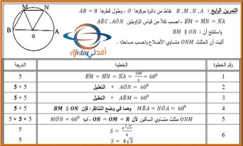 اسئلة و حلول امتحان الرياضيات لجميع المحافظات للصف التاسع 2018