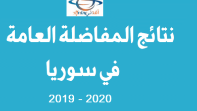 مفاضلة ثانية نتاذج سورية 2019
