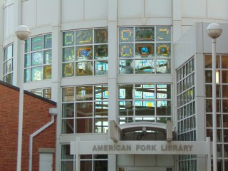 AF library stained glass