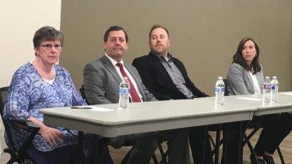 Barbara Christiansen (left), Jeff Shorter, Kyle Barratt, Staci Carroll