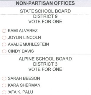American Fork primary ballot