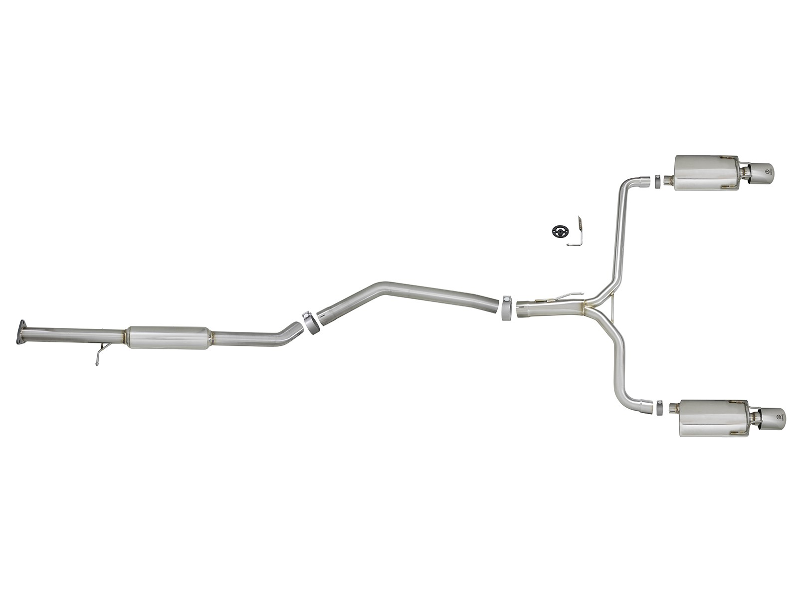 Takeda 2 1 2 To Dual 1 3 4 304 Stainless Steel Cat Back