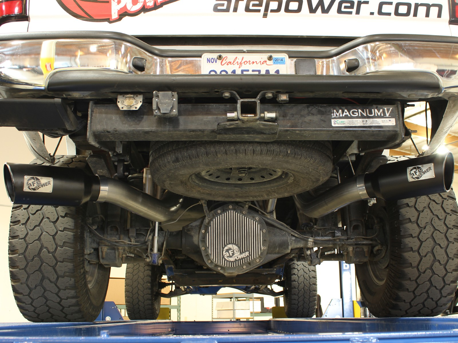large bore hd 4 409 stainless steel dpf back exhaust system