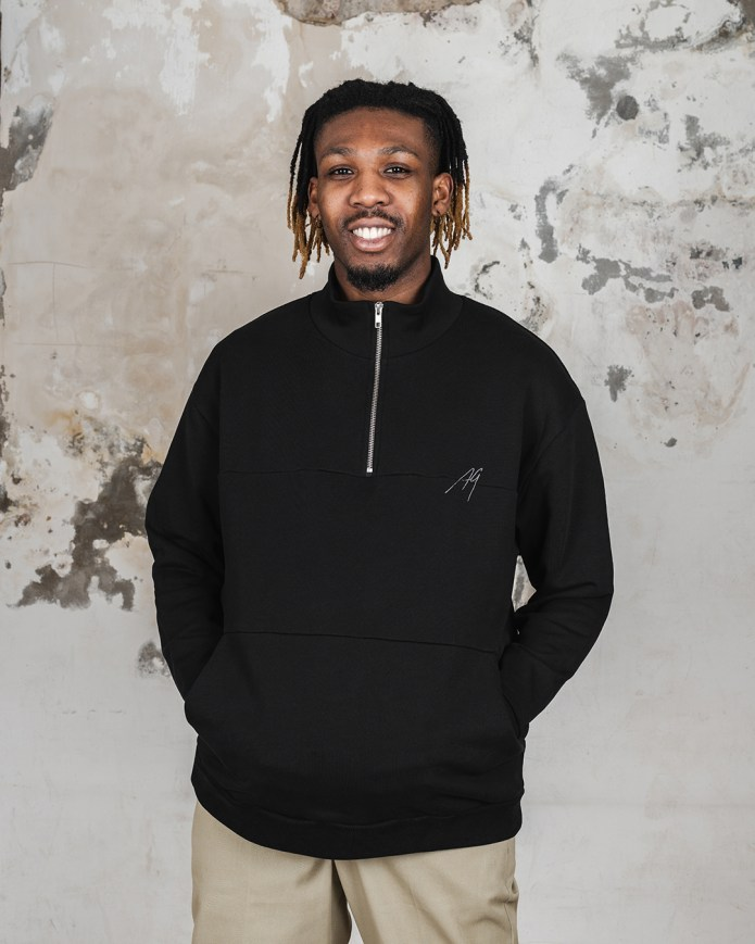 "Afew Goods Nostalgia Zip Sweater ""Black"""