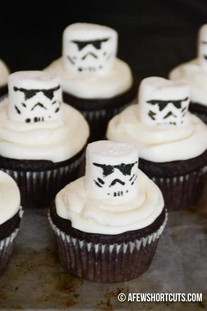 Star Wars Storm Trooper Cupcakes A Few Shortcuts