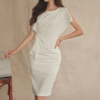 Yilda Short-Sleeve Sheath Dress