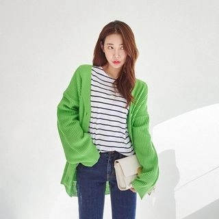 Colored Oversized Cardigan