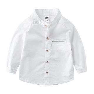 DEARIE Kids Plain Mandarin Collar Shirt N/A