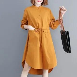 Diosa Pocket Detail Shirt Dress