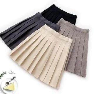 englard Knit Pleated Mini Skirt