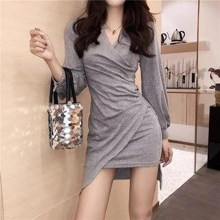 Nancho Long-Sleeve Asymmetric Dress