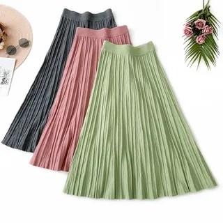 englard Knit High-Waist A-Line Skirt