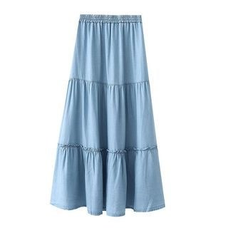 SILHO Denim A-Line Skirt