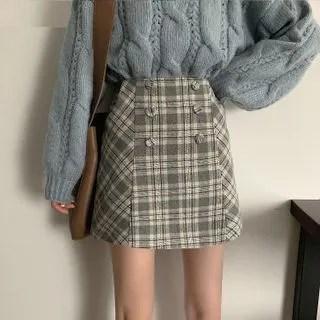 KANAMI Plaid Mini Skirt
