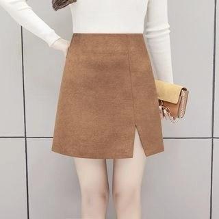 Yipin Slit A-Line Mini Skirt