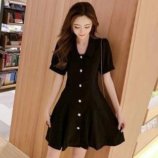 Vanaheim Short-Sleeve Mini A-Line Dress