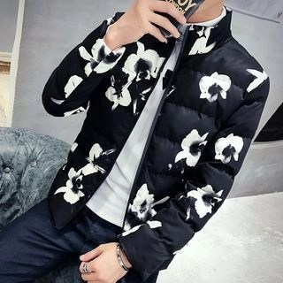 Floral Padded Jacket Green