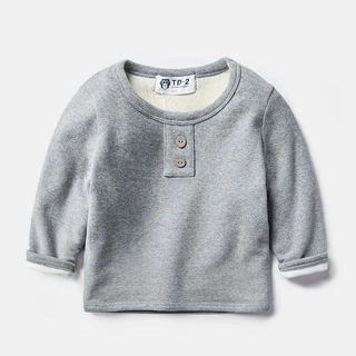 DEARIE Kids Buttoned Long Sleeve Top N/A