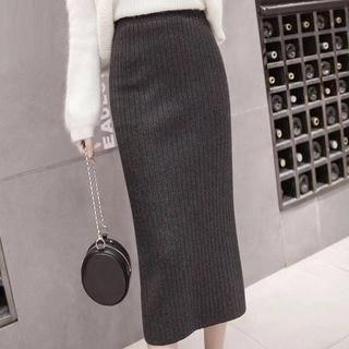 Yipin Knitted Midi Skirt