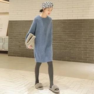 KANAMI Long-Sleeve Knit Dress