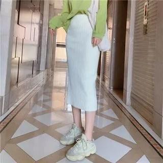 KANAMI Midi Fitted Knit Skirt