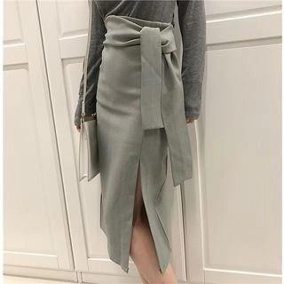 Kamakura Split Hem Midi H-Line Skirt