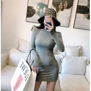 Sodoo Long-Sleeve Mini Sheath Dress