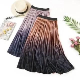 englard Gradient Velvet A-Line Skirt