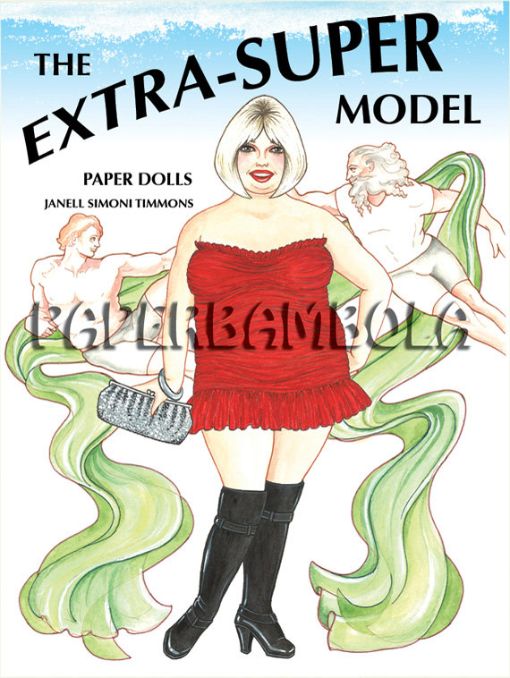 plus size paper dolls
