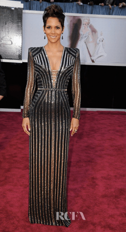 Halle Berry Wearing Marchesa