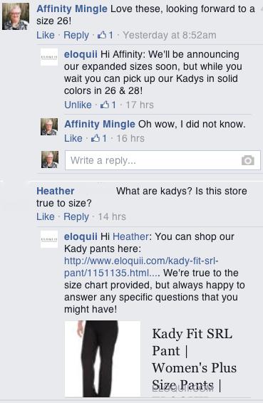 eloquii fb conversation