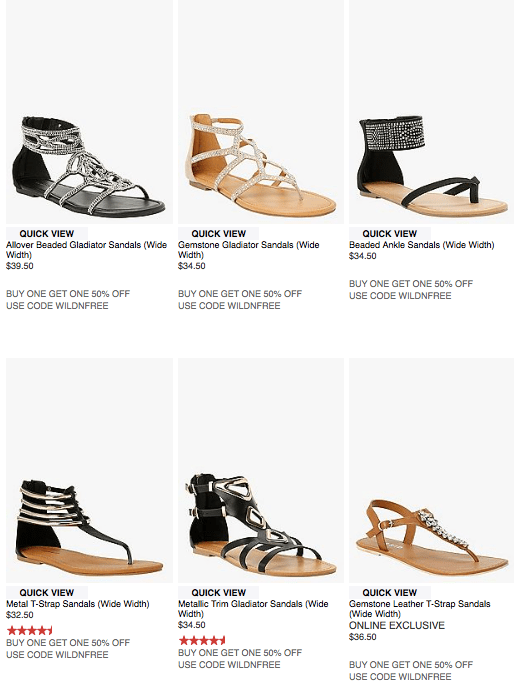 Wide Width Festival Sandals