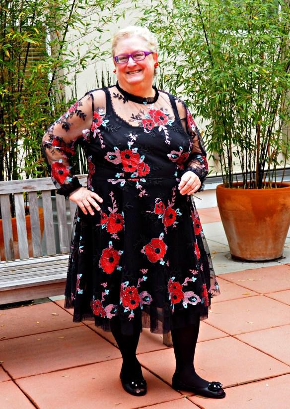 Eloquii Holiday Black Red Dress