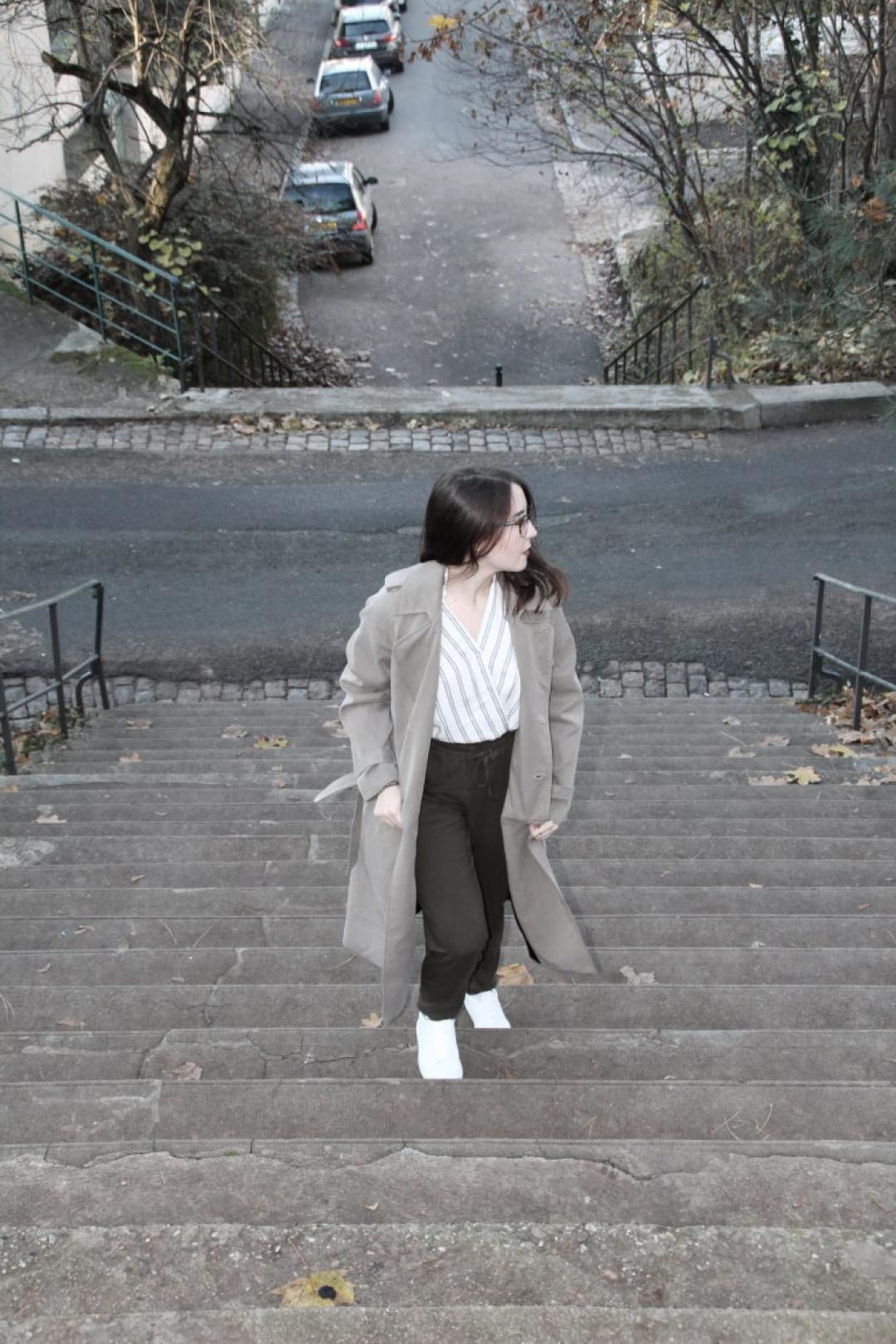 Photo d'un look automnal #ethique #vegan #ecologie #tenue #look #ootd
