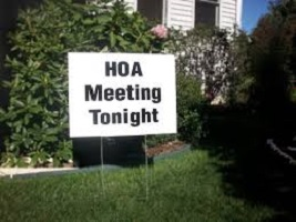 HOA Meeting Tonight