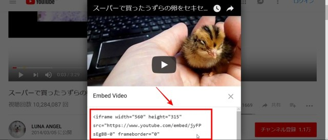YouTube埋め込み方3