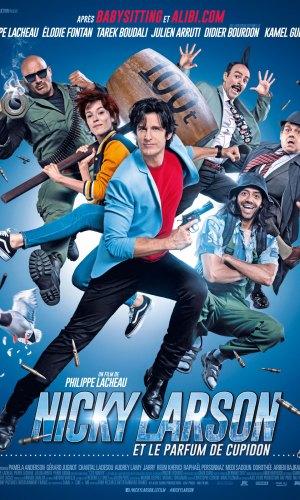 Affiche du film Nicky Larson le parfum de Cupidon avec tout les protagonistes du film
