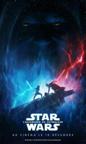 Affiche du film l'Ascension de Skywalker avec les 2 forces qui se battent