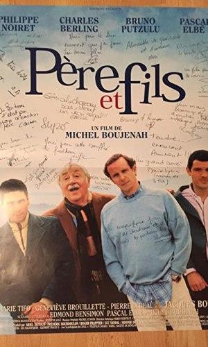 affiche du film Père et fils avec les protagonistes de l'histoire.