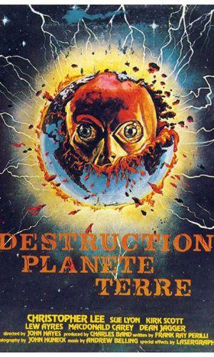 Affiche de cinéma Destruction planète terre