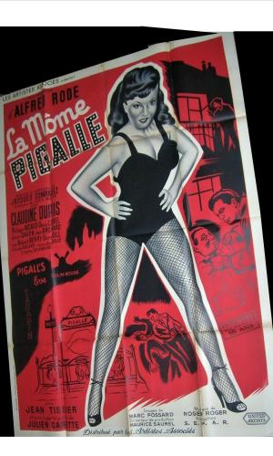 Affiche de cinéma La môme Pigalle