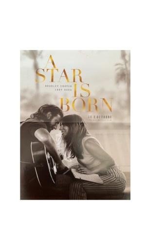 Affiche de cinéma A star is born