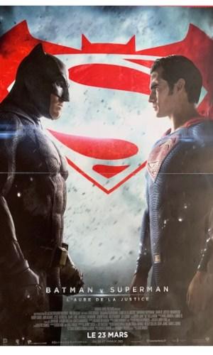 Affiche de cinéma Batman Super man L'aube de