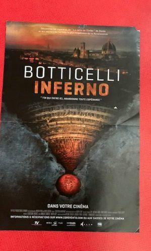 Affiche de cinéma Botticelli Inferno