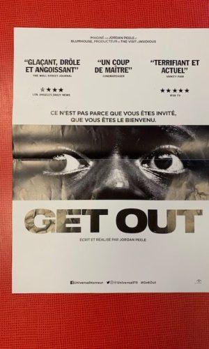 Affiche de cinéma Get out