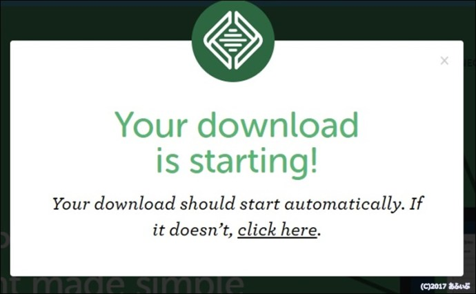 your download is starting!