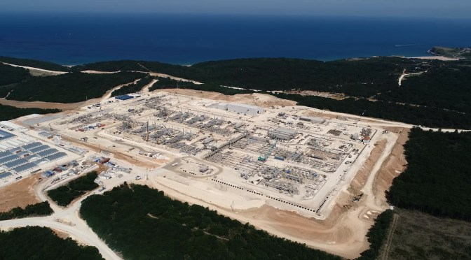 TurkStream Natural Gas Receiving Terminal. Source: Gazprom