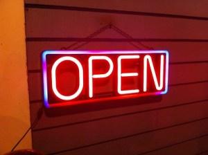Open Neon Sigh
