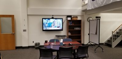 tv and meeting room with mobilewhiteboard