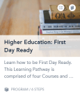 First Day Ready-Canvas Training Services Portal-Learning Pathway